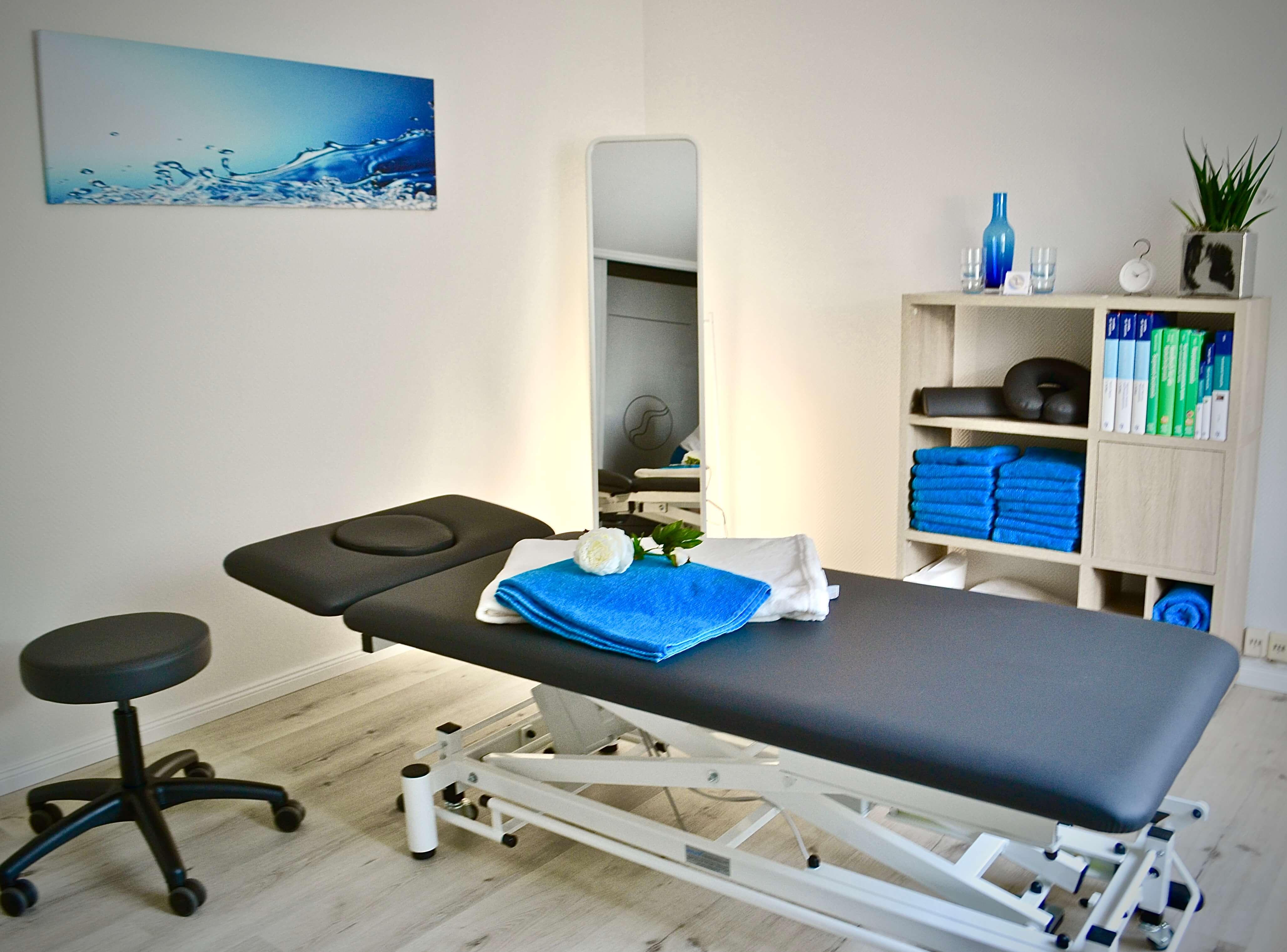 Der Behandlungsraum der Fachpraxis für Osteopathie Birte Steigerwald